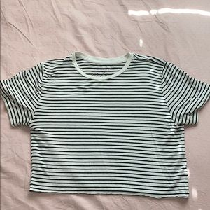 ABERCROMBIE AND FITCH STRIPED CROP TOP
